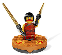 nya avec sa toupie version blister ninjago lego